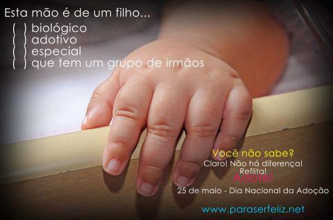 Escolha a sua resposta: esta mão é de um filho...