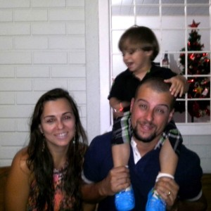 Luciane e família