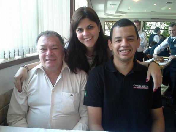 Ana com o irmão Adriano e o pai Isaías
